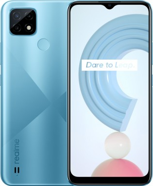Realme C21 in Cross Blue color
