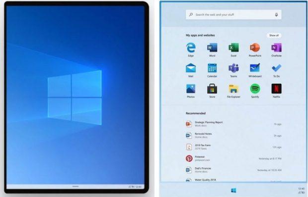 Windows 10X et l'explorateur de fichiers