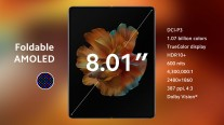 Details on Mi Mix Fold's two displays