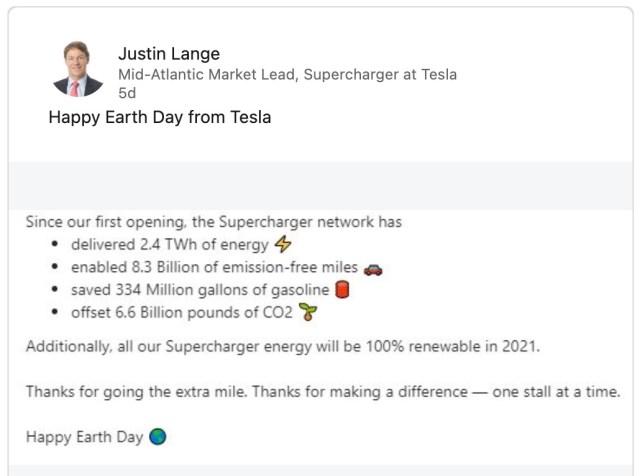 Tesla Superchargeurs énergie renouvelable