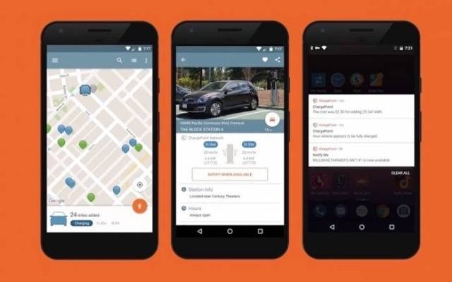 ChargePoint EV charger app