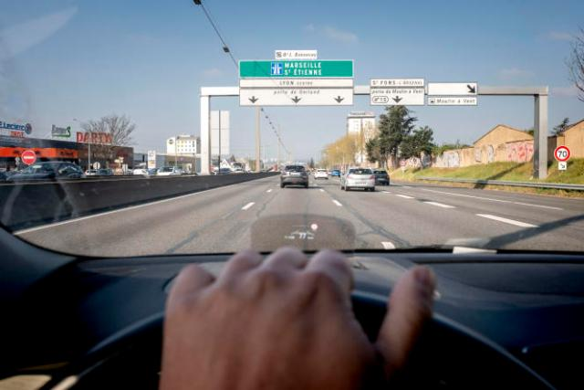 Le trafic est fluide sur le boulevard périphérique de Lyon, en direction de Marseille, le 3 avril 2021.