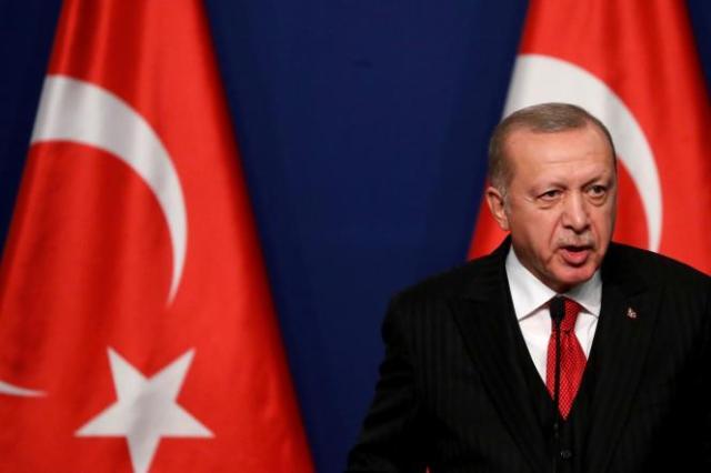Recep Tayyip Erdogan lors d'une conférence de presse avec le premier ministre hongrois Viktor Orban, à Budapest, le 7 novembre 2019.