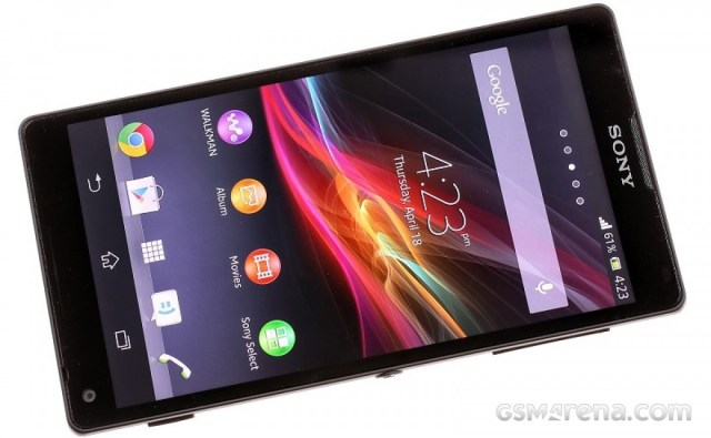 The Xperia ZL impressed with its slim bezels around its 5\