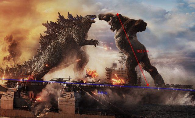 king Kong and Godzilla fighting