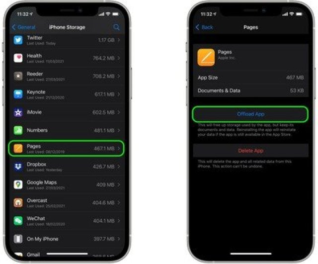 delete unecessary apps ios1 offload