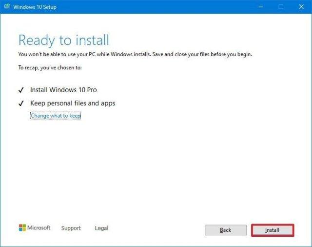 Windows 10 upgrade option with Media Creation Tool