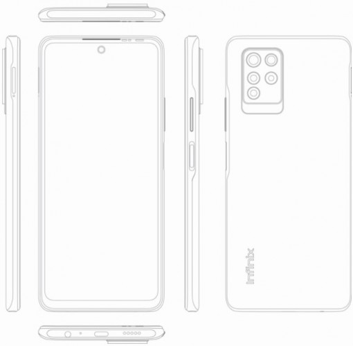 Infinix Note 10 Pro appears in a leaked render with punch hole screen