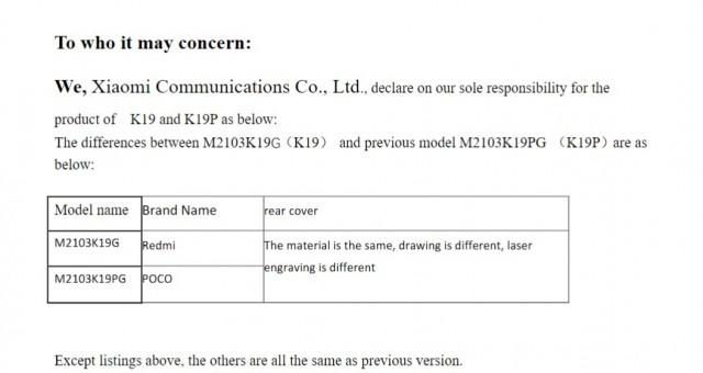 Poco M3 Pro FCC listing
