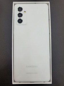 Samsung Galaxy Quantum2 (aka Galaxy A82) in its retail package for SK Telecom