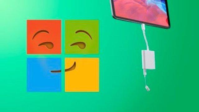 microsoft throws shade at iPad dongles