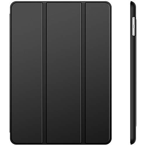 JETech Coque Compatible avec iPad (9,7 Pouces, Modèle 2018/2017, 6ème et 5ème Génération), Housse Étui avec Veille/Réveil Automatique, Noir
