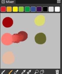 Mixing palette in Corel Painter 2019