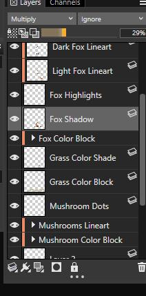 Layer palette in corel painter 2019