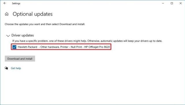 Windows Update download driver updates