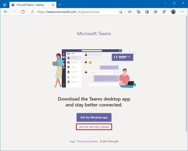 Microsoft Teams web version