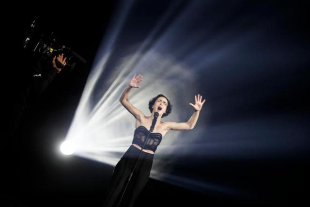 Barbara Pravi, la représentante française, pendant les répétitions du concours Eurovision à Rotterdam, aux Pays-Bas, le21mai2021.