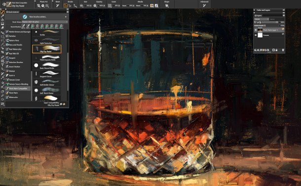 Corel Painter 2021 Digital Painting with Thick Layers