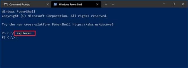 PowerShell open File Explorer