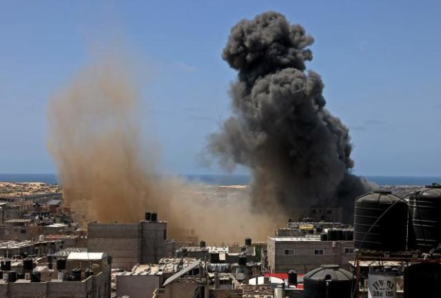 A Rafah, dans la bande de Gaza, jeudi 20 mai 2021.