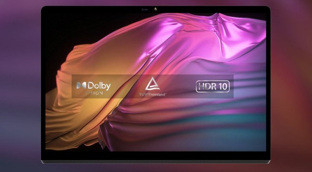 The new Lenovo Yoga Pad 13'' tablet has a micro-HDMI port so you can use it as an external monitor