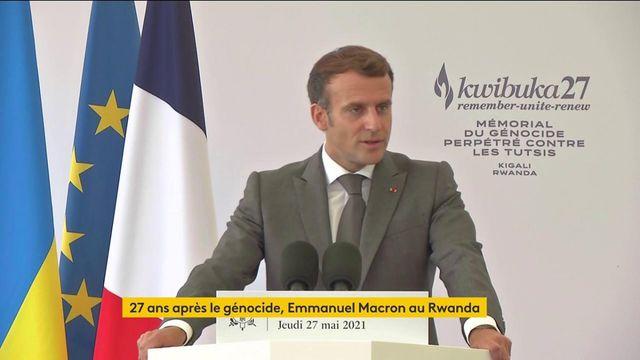 """VIDEO. """"Il existe l'opportunité d'une alliance respectueuse"""" entre la France et le Rwanda, déclare Emmanuel Macron"""