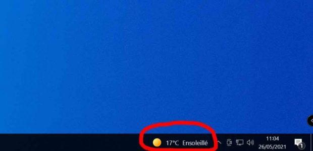 Windows 10 et le Widget « Actualités et champs d'intérêt »