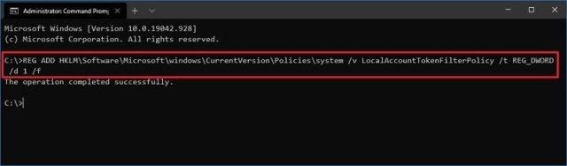 Disable UAC on Windows 10