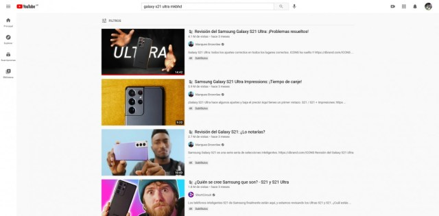 YouTube titles auto-translated into Spanish