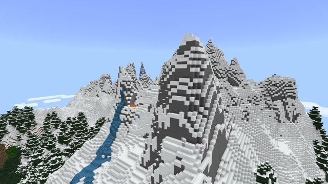 Minecraft Caves & Cliffs Update Mountain Generation