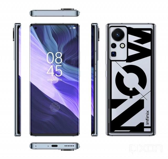 Infinix 160W chargin phone renders