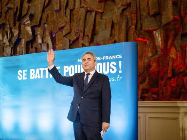 Xavier Bertrand, réélu à la tête des Hauts-de-France, à Saint-Quentin (Aisne), dimanche 27 juin 2021.