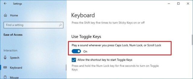 Enable sound for Lock key press