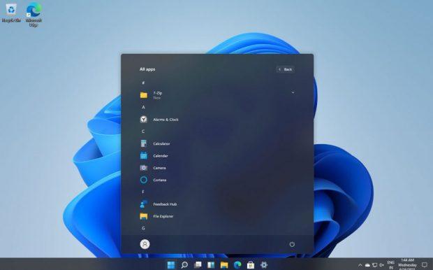 Windows 11 et le nouveau menu demarrer