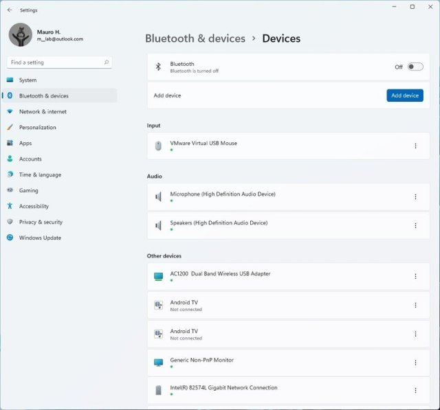 Windows 11 connected devices