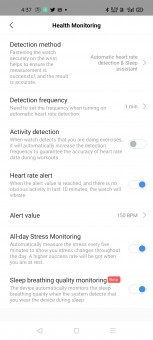 Heart rate monitoring on Amazfit GTS 2