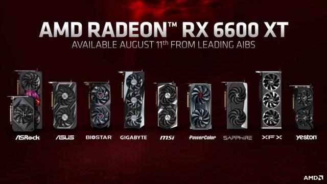 AMD announces Radeon RX 6600 XT graphics card for $379