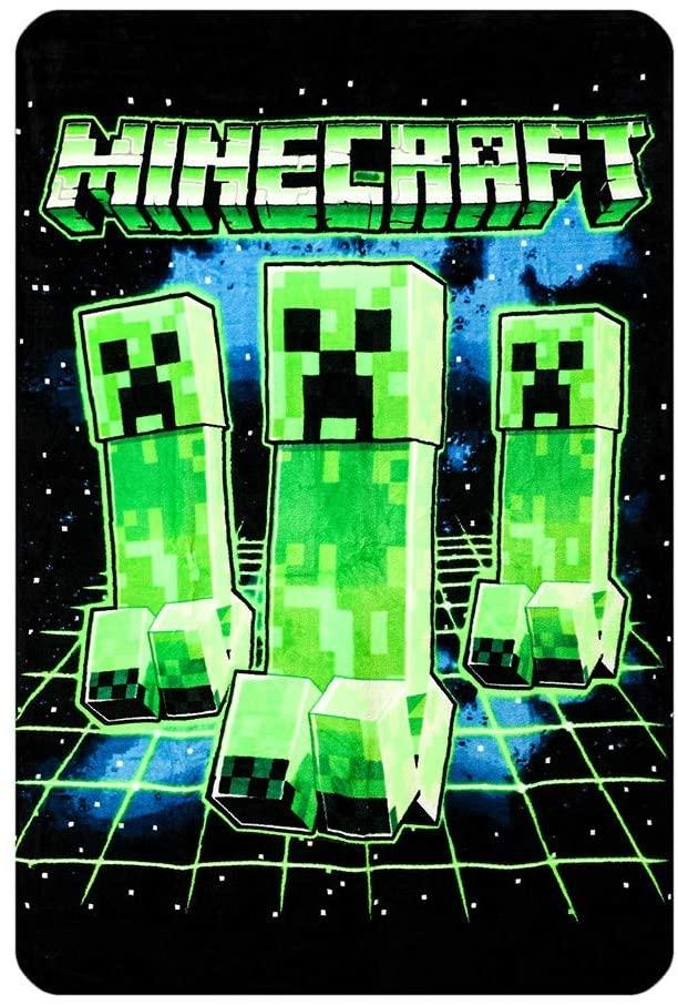 Minecraft Creeper Throw Blanket Reco Image