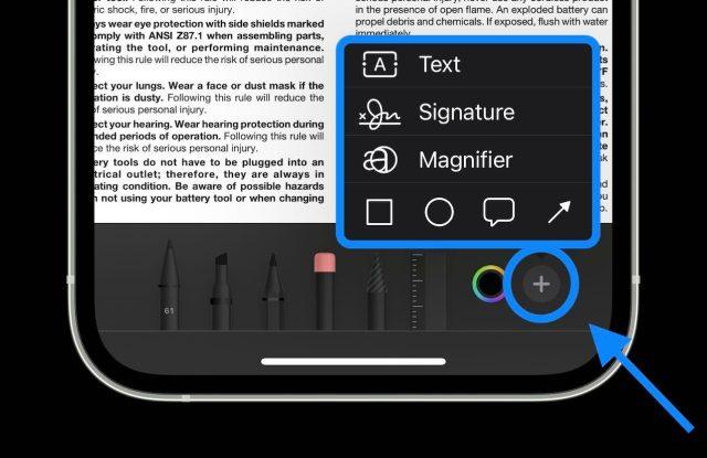 Comment éditer des PDF sur iPhone et iPad dans iOS Application 15 fichiers - procédure pas à pas 3