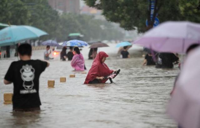 A Zhengzhou, province du Henan, en Chine, le 20juillet2021.