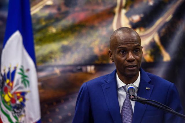 Le président d'Haïti, Jovenel Moïse, lors d'une conférence de presse à Port-au-Prince le 7 janvier 2020.