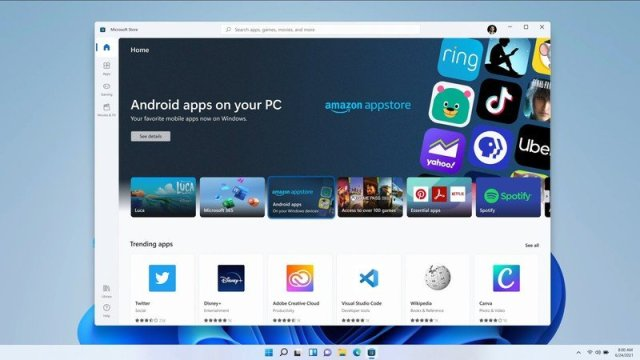 Windows 11 Android Store