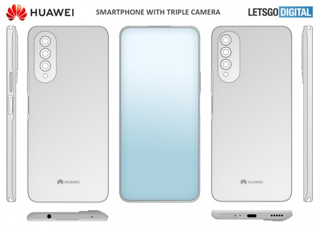 Huawei patents a smartphone with under-display selfie camera