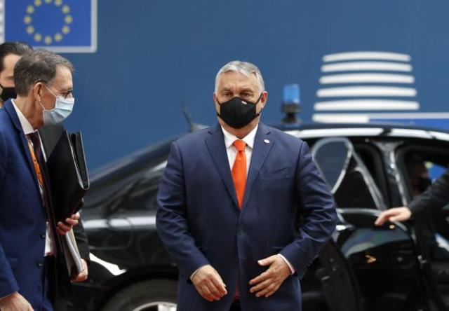 Le premier ministre hongrois, Viktor Orban, arrivant au Conseil européen à Bruxelles, le 24 juin 2021.
