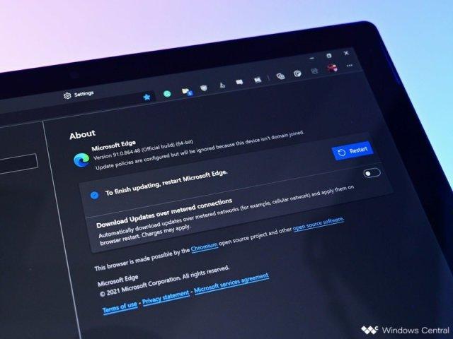 Microsoft Edge Update Restart