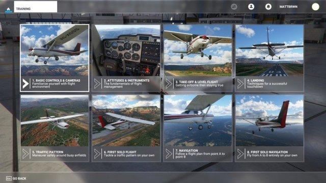Microsoft Flight Simulator Flight Training