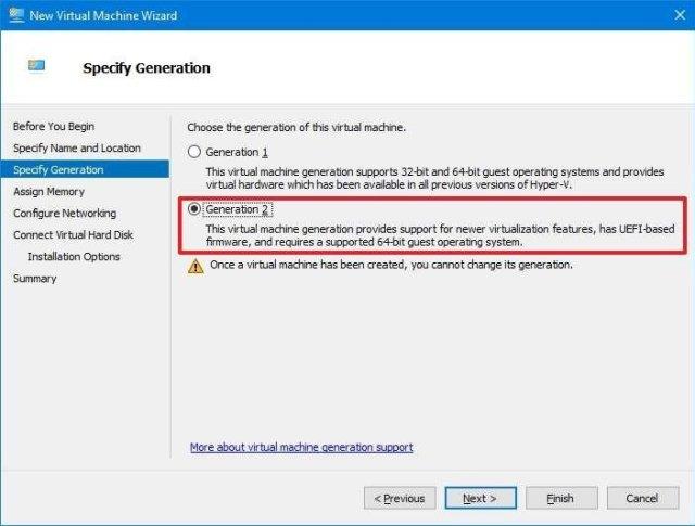 Hyper-V gen 2 for Windows 11