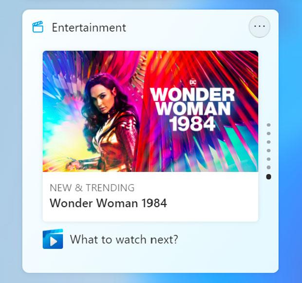 Windows 11 et le Widget Divertissement