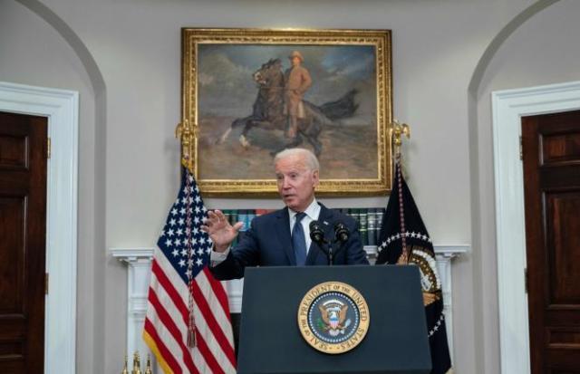 Joe Biden lors d'une conférence de presse à la Maison Blanche, le 22 août 2021.