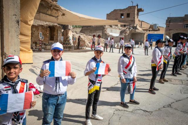 En Irak, lors de la visite d'Emmanuel Macron